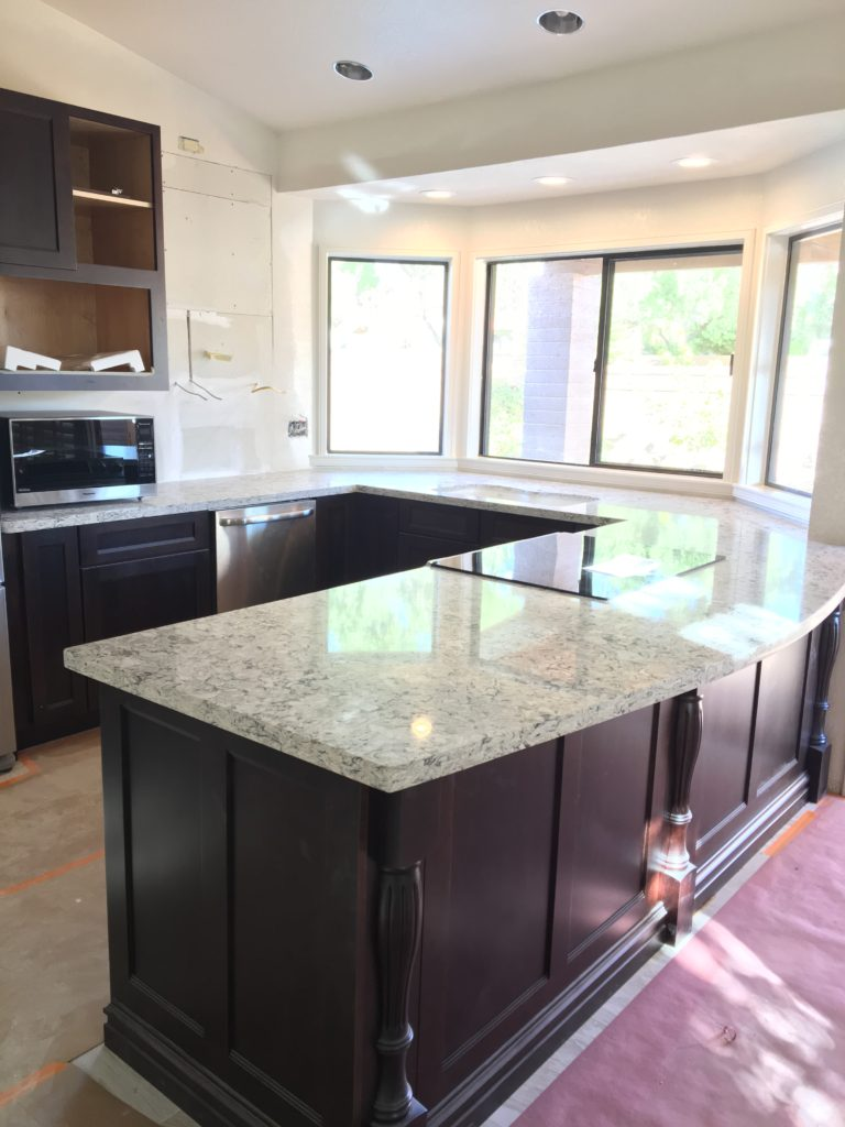 Granite Installation.