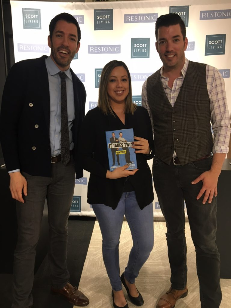 Jen with the Property Brothers, Drew and Jonathan Scott