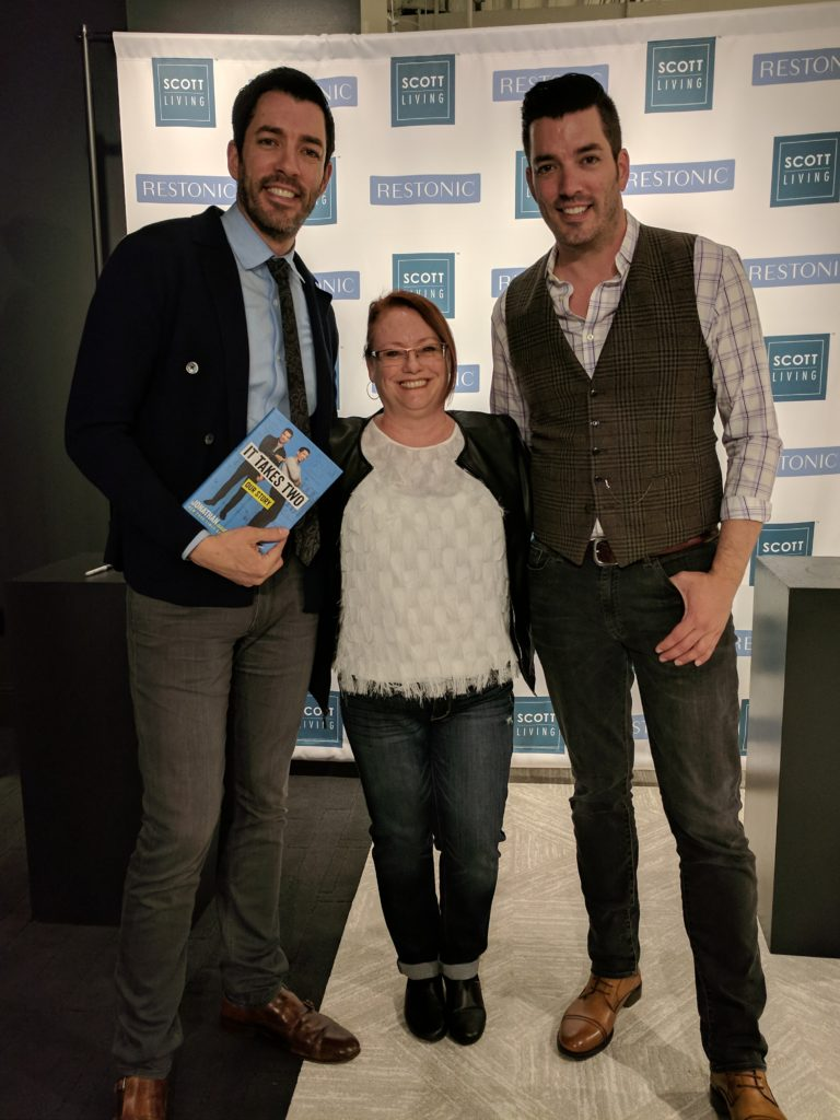 Sherrie with Property Brothers, Drew and Johnathan Scott