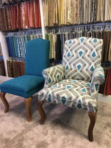 Custom upholstery chairs.