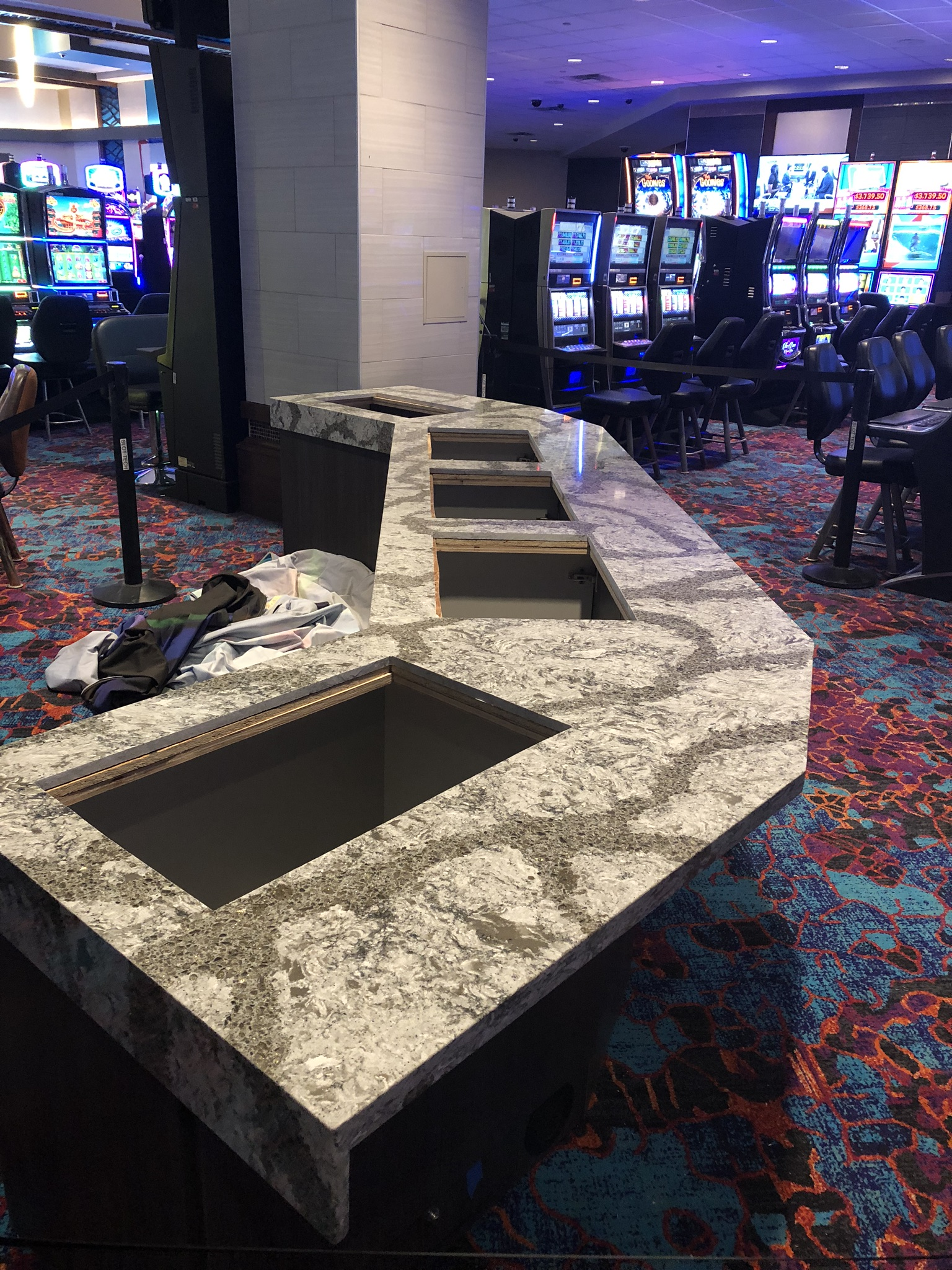 Granite Install for Slot Machines