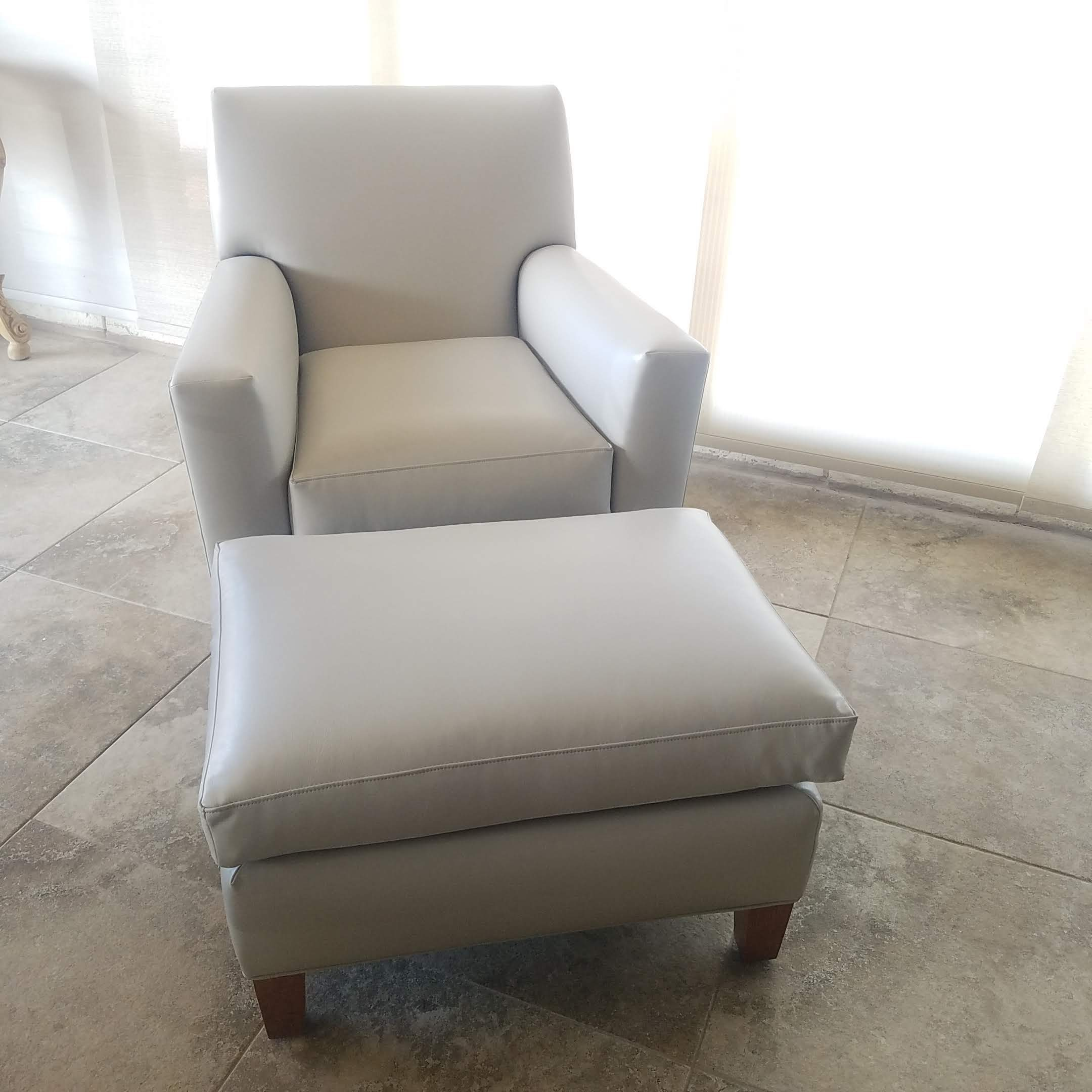 Dove Grey Vinyl Chairs